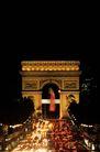 世界旅游0215,世界旅游,世界风光,凯旋门 夜色 灯海