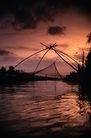世界旅游0243,世界旅游,世界风光,渔具 捕鱼 黄昏