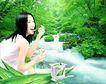 广告女郎0046,广告女郎,艺术,绿色世界