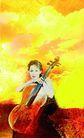 音乐遐想0003,音乐遐想,艺术,女人 怀抱 大提琴