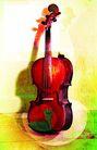 音乐遐想0012,音乐遐想,艺术,提琴 靠墙 闲置