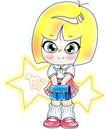 12星座0001,12星座,漫画卡通,卡通 女孩 短发