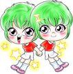12星座0009,12星座,漫画卡通,双子座 双胞胎 兄弟