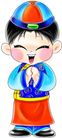 节庆0005,节庆,漫画卡通,春节 瓜破帽 恭喜