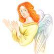 节庆0017,节庆,漫画卡通,天使 鼓掌 翅膀
