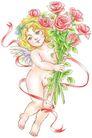 节庆0018,节庆,漫画卡通,裸体 女孩 玫瑰