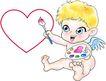 节庆0022,节庆,漫画卡通,丘比特 爱情 翅膀