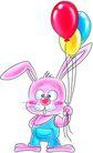 节庆0026,节庆,漫画卡通,汽球 小兔子 动物
