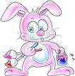 节庆0028,节庆,漫画卡通,卡通 小兔子 颜料桶