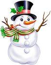 节庆0035,节庆,漫画卡通,雪人 围巾 帽子