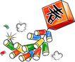 庆典装饰0002,庆典装饰,漫画卡通,春节 燃放 鞭炮
