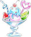 庆典装饰0003,庆典装饰,漫画卡通,脚杯 冰激淋 水果