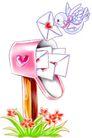庆典装饰0017,庆典装饰,漫画卡通,鸽子 投递 信件
