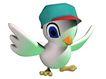 3D动物图案0104,3D动物图案,漫画卡通,戴个小帽 大眼睛 张开翅膀