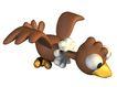 3D动物图案0105,3D动物图案,漫画卡通,咖啡色翅膀 黄嘴 白花脖
