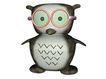 3D动物图案0115,3D动物图案,漫画卡通,猫头鹰 眼镜 猫博士