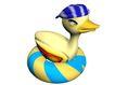 3D动物图案0117,3D动物图案,漫画卡通,救生圈 小鸭子 玩具
