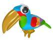 3D动物图案0120,3D动物图案,漫画卡通,鸟喙 动物 小鸟