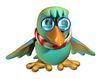 3D动物图案0130,3D动物图案,漫画卡通,眼镜 博士 渊博 形象 外型