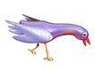 3D动物图案0149,3D动物图案,漫画卡通,红嘴