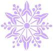 彩绘0091,彩绘,漫画卡通,紫色 雪花 图案