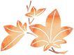 彩绘0097,彩绘,漫画卡通,喇叭花 叶子 喇叭
