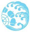 彩绘0103,彩绘,漫画卡通,水车斗 海浪 蓝色