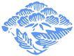 彩绘0105,彩绘,漫画卡通,大树叶 花朵 蓝色菱形