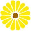 彩绘0117,彩绘,漫画卡通,向日葵 鲜艳 金黄色