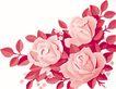 彩绘0120,彩绘,漫画卡通,繁华簇拥 红色 大花