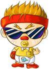 彩绘0123,彩绘,漫画卡通,日本卡通 武士 大头 武术精神 少儿频道