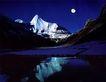 中国美景0070,中国美景,中国图片,明月 湖泊 山体