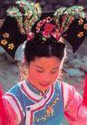 民俗人物0052,民俗人物,中国图片,格格 头饰 装扮
