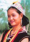 民俗人物0080,民俗人物,中国图片,银耳环 配带 笑脸