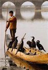民俗人物0096,民俗人物,中国图片,渔民 小舟 鱼鹰