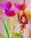 中国结0079,中国结,中国图片,珍珠 镶嵌 花朵