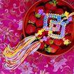 中国结0093,中国结,中国图片,果盘 草莓 中国结