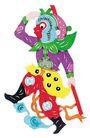 中华剪纸0194,中华剪纸,中国图片,金箍棒 孙悟空 猴子