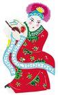 中华剪纸0199,中华剪纸,中国图片,古装男人 扇子 帽子