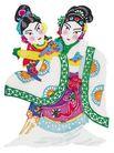 中华剪纸0203,中华剪纸,中国图片,白蛇传 雨伞闪 白娘子
