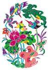 中华剪纸0224,中华剪纸,中国图片,荷叶 莲花