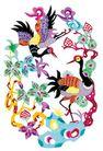 中华剪纸0228,中华剪纸,中国图片,鸟类 植物