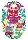 中华剪纸0231,中华剪纸,中国图片,剪纸 鸳鸯 喜庆