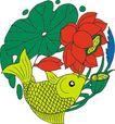 吉祥动物0045,吉祥动物,中国图片,鲤鱼 红荷