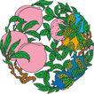 吉祥动物0067,吉祥动物,中国图片,桃子 果树 桃叶