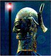青铜艺术0067,青铜艺术,中国图片,头盔 长矛 战士
