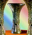 青铜艺术0076,青铜艺术,中国图片,铜制 细颈 花瓶