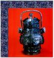 青铜艺术0080,青铜艺术,中国图片,铜壶 员环 红底
