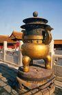 钟鼎器皿0066,钟鼎器皿,中国图片,铜鼎 石墩 宫殿