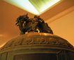 钟鼎器皿0079,钟鼎器皿,中国图片,钟顶 祥兽 扒卧